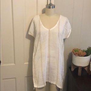Billabong cotton tan cream stripe tunic coverup